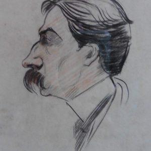 Diverse schetsen van portretten bij nicht Karla