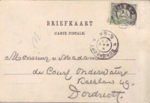 1903-03-03 Blaricum, adreskant