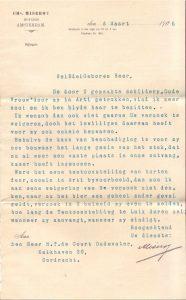1905-03-03 Amsterdam: : Notaris Miseroy over tentoonstelling: hij wil schilderij Oude Vrouw niet afstaan;