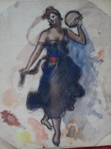 Danseres op blote voeten