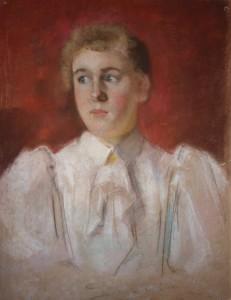Zijn zuster Nella, tekening