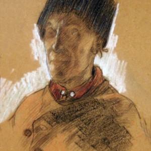 Portret van een Volendammer visser
