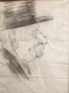oudere man met hoed