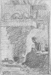 schets Vrouw bij Haard