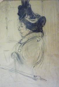 Oude dame met haarnetje