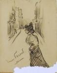 vrouw op straat rue veron