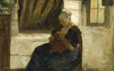 Larense vrouw met kind (gemeente Laren)