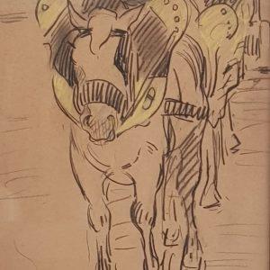 3 tekeningen, in bezit van een familielid